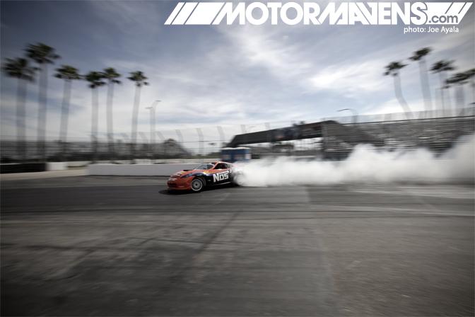 Chris Forsberg 370Z Nos Energy Drink hardtop Formula Drift FDLB FDLBC LBC Long Beach