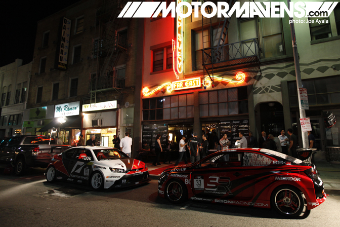 Scion Racing Formula Drift TC unveiling party Little Tokyo Far Bar Far East Cafe Ken Gushi Fredric Aasbo