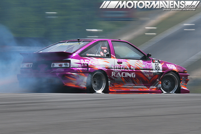 AE86 Trueno Corolla GT-S turbo Taka Aono Formula Drift Atlanta Megan Racing Nexen