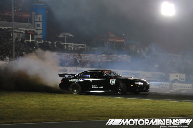 Formula Drift Road Atlanta 2011 Jonathan McWhorter SWD Pro-Am  Nissan S14 Drift Emporium Vision Performance