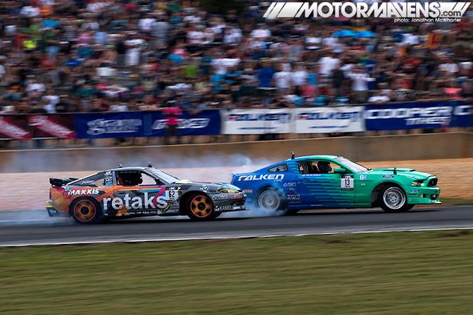Ryan Tuerck Retaks Nissan S13.5 Maxxis Tires Justin Pawlak JTP Falken Tire Ford Mustang ASD Road Atlanta Formula Drift Round 2
