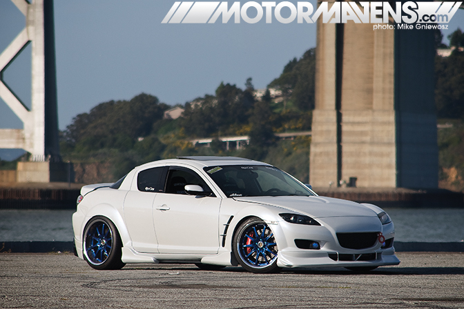 slammed rx-8 on blue volk gt-f