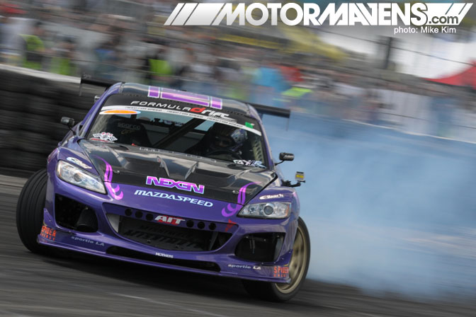 Formula Drift 2011 Round 1 Streets of Long Beach Kyle Mohan Mazdatrix RX-8 Nexen
