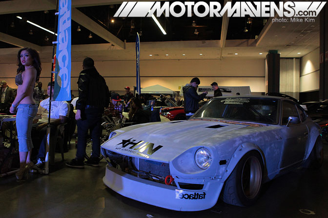 HIN Hot Import Nights 2011 Los Angeles Convention Center Yuta Akaishi Heartbreaker 240z SSR Koyo Radiator