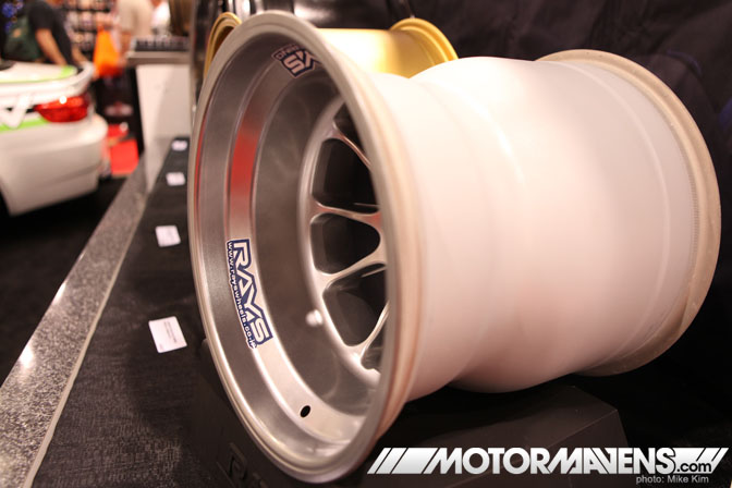 SEMA Show 2011 Las Vegas Convention Center Rays engineering Formula 1 racing wheel Mackin industries