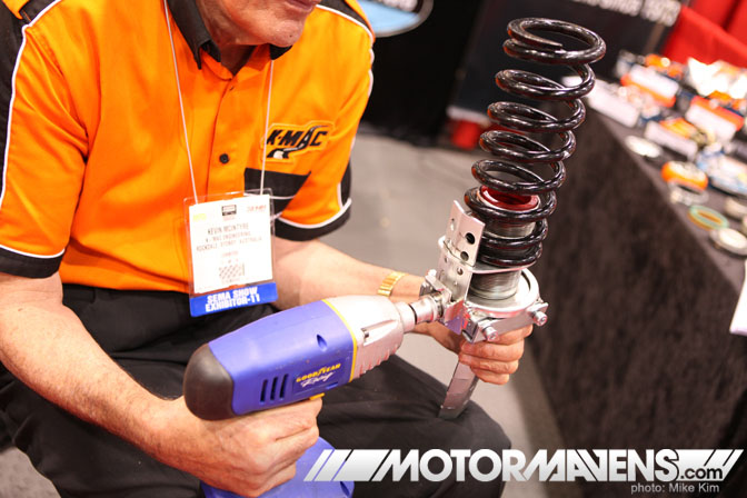 SEMA Show 2011 Las Vegas Convention Center k-mac industries coilover quick adjuster
