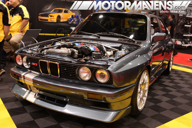 SEMA Show 2011 Las Vegas Convention Center LSM3 BMW M3 LS1 swap widebody