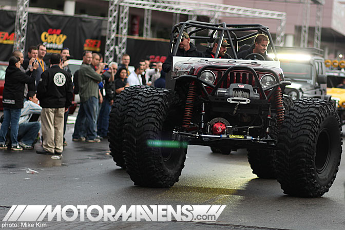 SEMA Show 2011 Las Vegas Convention Center all wheel steering jeep