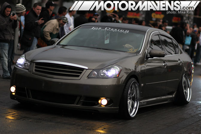 SEMA Show 2011 Las Vegas Convention Center Demon Camber Nissan Fuga Infiniti M35 Platinum VIP