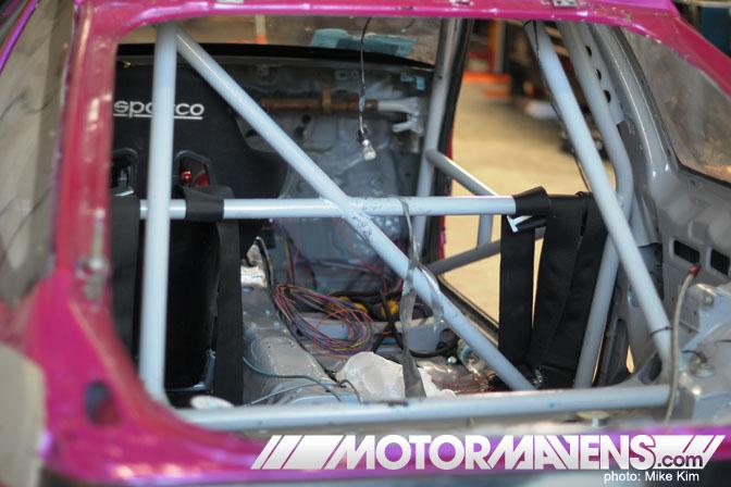 JSP Fab John Russakoff First Running K24 AE86 Megan Racing Nexen Tire Formula Drift Roll Cage Wiring Harness