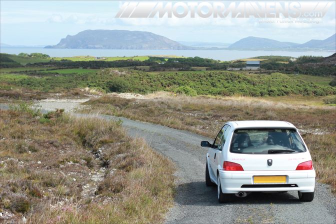 Irish Tarmac Rally Championship Peugeot 106 Donegal Ireland Mazda Miata MX5 Patrick McCullagh