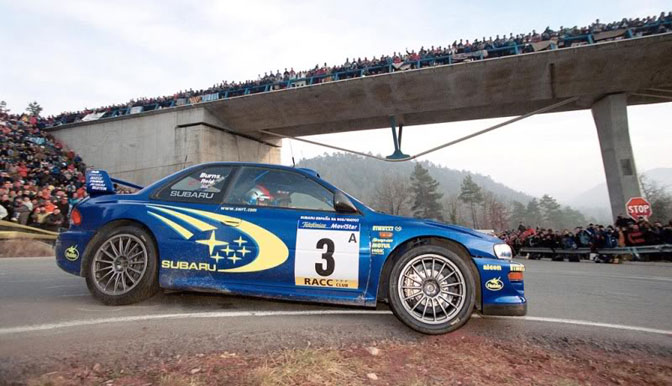 Burns Impreza P2000 Spain hairpin el Molar