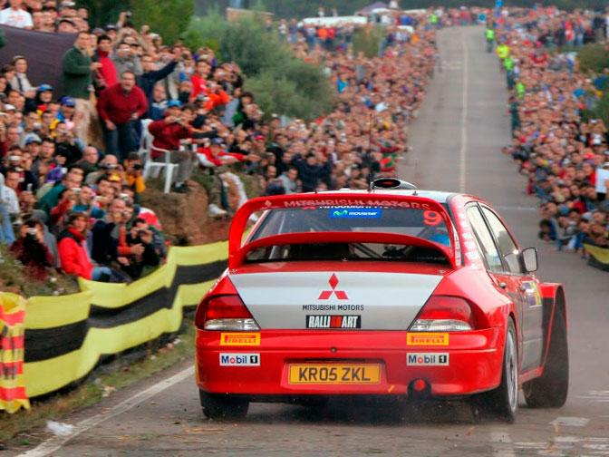 Harri Rovanpera WRC Lancer Evo 7 VII Spain