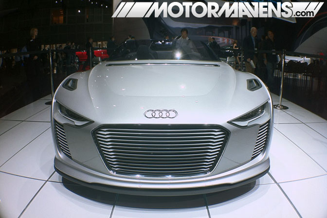 384hp Audi eTron R8 at the 2011 LA Auto Show coverage