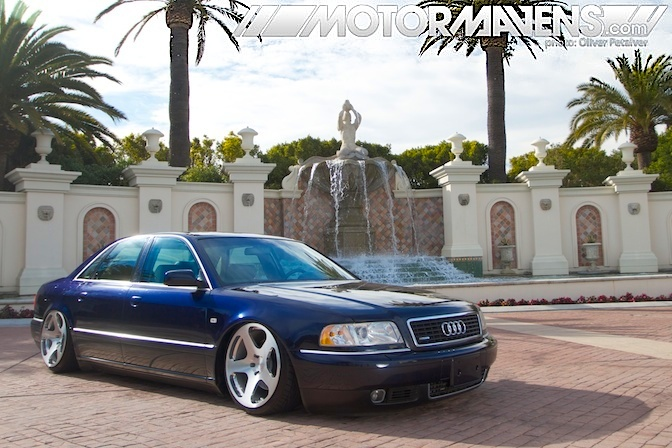 Center Stage Audi A8 That Belly Scrapes Motormavens Car Culture