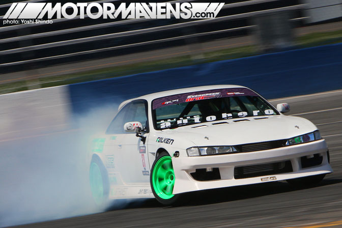 Evergreen Drift Pro Am Evergreen Speedway Nissan 240sx S14 Silvia 2JZ-GTE Rob Primo Garage Autohero Northwest Riders John Reed Racing Yoshi Shindo Formula D Seattle Formula Drift