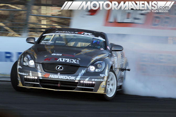 Ryuji Miki Lexus SC430 Apex'i Formula Drift Toyota Speedway Yoshi Shindo