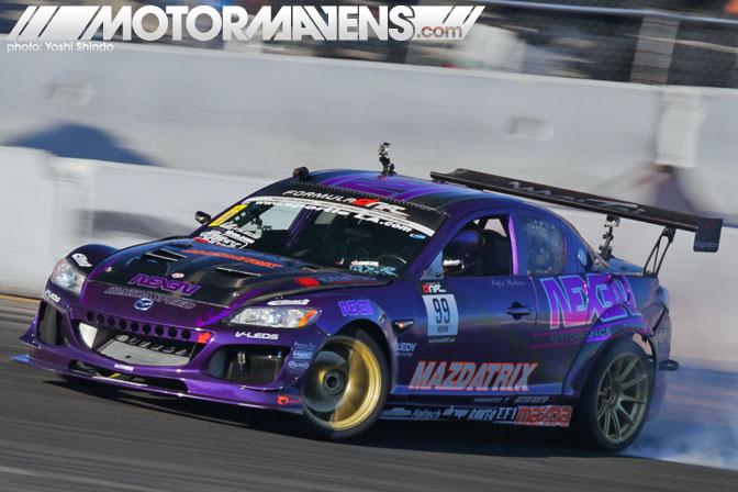 Formula D Kyle Mohan Mazdatrix Mazda RX8 Yoshi Shindo