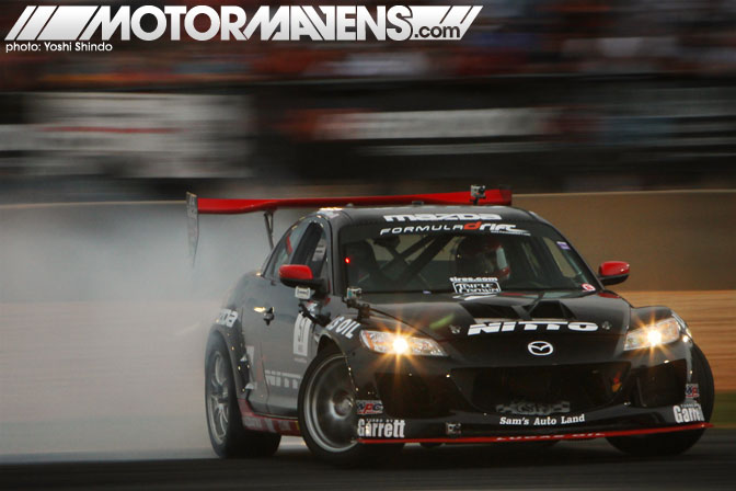 Joon Maeng Road Atlanta Formula Drift Round 2 Mazda RX-8 Nitto Tire Brembo Brakes Mazdatrix Lucas Oil