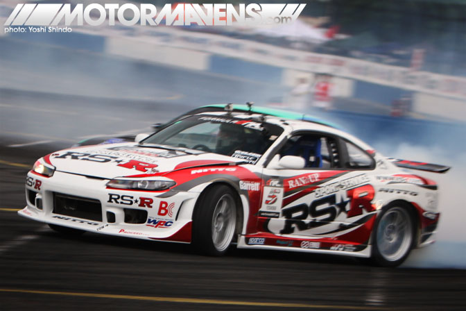 Formula D Seattle Monroe Washington Evergreen Speedway Toshiki Yoshioka Nissan S15 Silvia RS*R Yoshi Shindo
