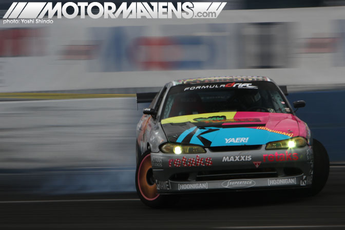 Formula D Seattle Evergreen Speedway Monroe Washington Ryan Tuerck S13 Retaks Yoshi Shindo