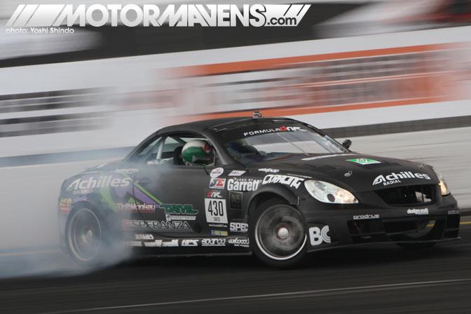Formula D Seattle Evergreen Speedway Monroe Washington Daigo Saito Lexus SC430 Achilles Tire 2JZ-GTE Yoshi Shindo