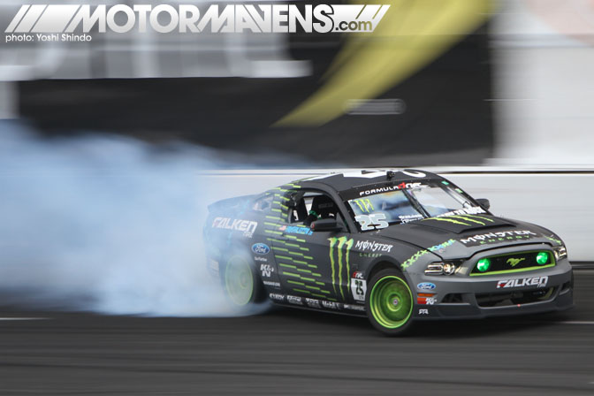 Formula D Seattle Evergreen Speedway Monroe Washington Vaughn Gittin Jr Ford Mustang RTR Monster Falken Yoshi Shindo