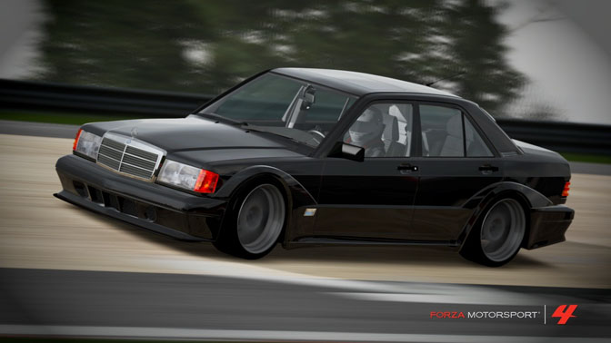Mercedes Benz 190E 2.3 16 valve DTM Forza Motorsport 4 video game review Turn 10 Microsoft Xbox 360 Yoshi Shindo FM4