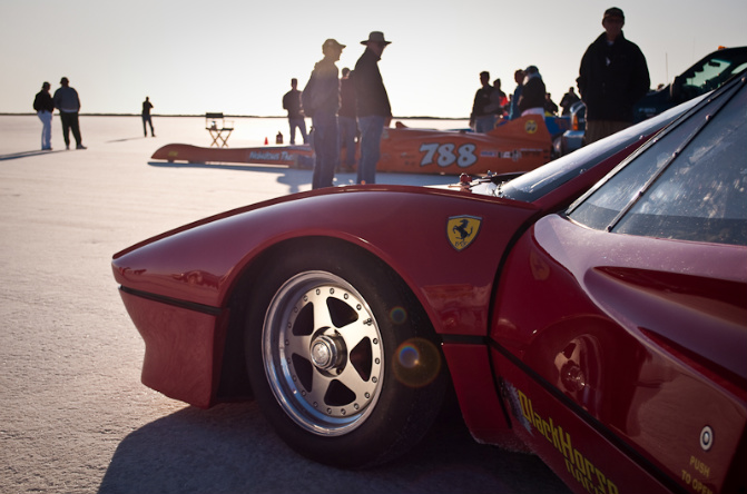Ferrari, Streamliner, Bonneville Salt Flats, Speedweek 2009, land speed racing